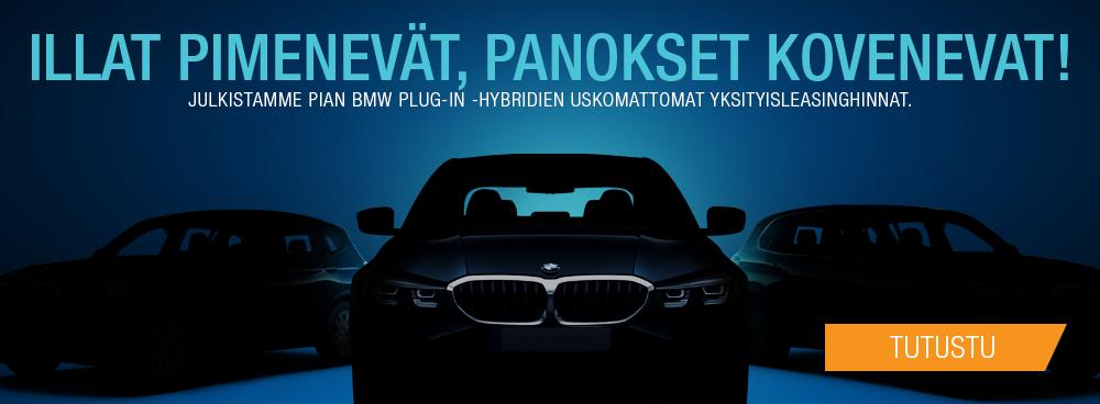 Illat pimenevät, panokset kovenevat. Julkistamme pian BMW Plug-in Hybridien uskomattomat yksityisleasinghinnat.