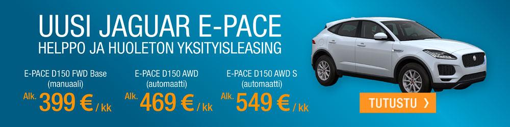 Jaguar E-Pace mallit yksityisleasingillä.